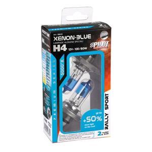 Bulbs - by Bulb Type, 12V Xenon Blue halogen lamp +50 light - (H4) - 100-80W - P43t - 2 pcs  - Box, Pilot