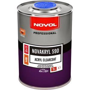 Body Repair and Preparation, Novakryl 590 - Acryl Clearcoat 2+1, 1.0 Litre, Novol