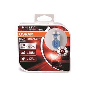 Bulbs - by Bulb Type, Osram Night Breaker Laser H4 Bulb  - Twin Pack, Osram