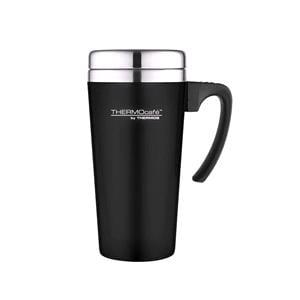 Reusable Mugs, Thermos Thermocafe Zest Travel Mug - 400ml - Black, Thermos