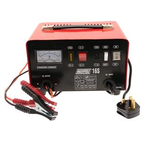 Battery Charger, Maypole 12A, 12V-24V Metal Battery Charger, MAYPOLE