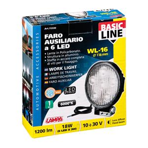 Special Lights, WL-16, auxiliary light, 6 Led - 10-30V - White, Lampa