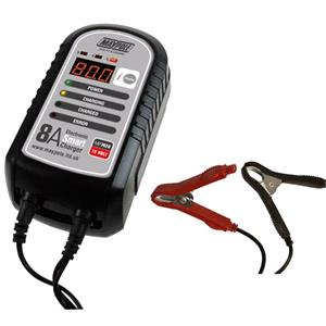 Battery Chargers, Jump Leads and Power Packs, Maypole 8A 12V Electronic Smart Battery Charger, MAYPOLE