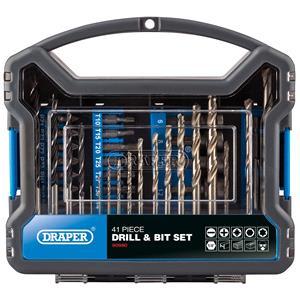 Drill Bit Sets, Draper 80980 Drill Bit and Accessory Kit (41 Piece), Draper