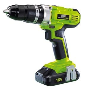 Drills and Cordless Drivers, Draper 82799 18V LI-ION DRILL STORMFORCE Eu, Draper