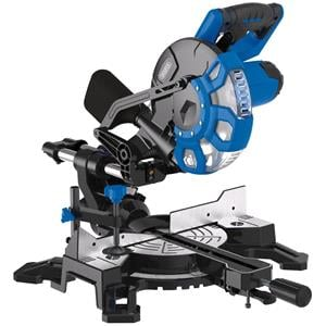 Mitre and Chop Saws, Draper 83677 210mm Sliding Compound Mitre Saw with Laser Cutting Guide (1500W), Draper