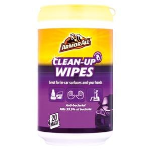 Leather and Upholstery, ArmorAll Anti Bacterial Clean up Wipes - Pack of 20, ARMORALL