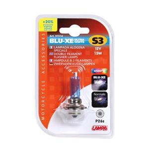 Bulbs - by Bulb Type, 12V Blu-Xe Halogen lamp - S3 - 15W - P26s - 1 pcs  - D-Blister, Lampa
