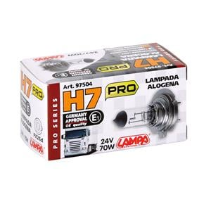 Bulbs - by Bulb Type, 24V Pro halogen lamp - H7 - 70W - PX26d - 1 pcs  - Box, Lampa