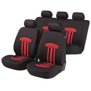 Seat Covers, Walser Basic Zipp-It Kent Car Seat Cover Set - Red For Peugeot 207 Saloon 2007 Onwards, Walser