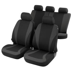 Seat Covers, Walser Mendoza Car Seat Cover Set - Anthracite - Peugeot 207 Saloon 2007 Onwards, Walser