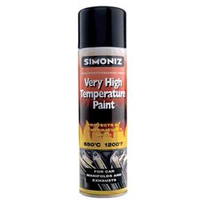 Specialist Paints, Simoniz Very High Temperature Paint - Black - 500ml, Simoniz