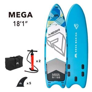 """All SUP Boards, Aqua Marina Mega (2021) 18'1"""" SUP Paddle Board, Aqua Marina"""