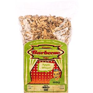 BBQ Accessories, Axtschlag Barbecue Wood Smoking Chips - Apple Wood 1kg, Axtschlag