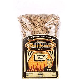 BBQ Accessories, Axtschlag Barbecue Wood Smoking Chips - Strong Beer 1kg, Axtschlag