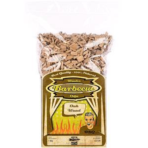 BBQ Accessories, Axtschlag Barbecue Wood Smoking Chips - Oak Wood 1kg, Axtschlag
