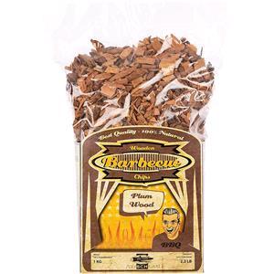 BBQ Accessories, Axtschlag Barbecue Wood Smoking Chips - Plum Wood 1kg, Axtschlag