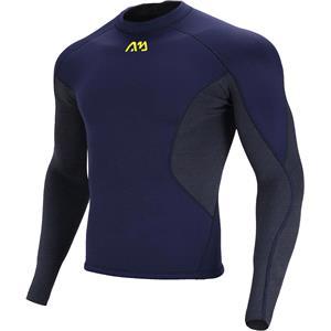 SUP Wear, Aqua Marina Nosara Men's Neoprene Long Sleeve Top - Navy - Size S, Aqua Marina