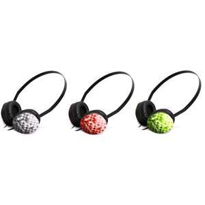 Headphones, 3 Sets of Creative Labs Lightweight Sport Headphones - Black, Red and Green, Creative Labs