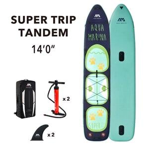"All SUP Boards, Aqua Marina Super Trip Tandem 14'0"" Family SUP Paddle Board, Aqua Marina"