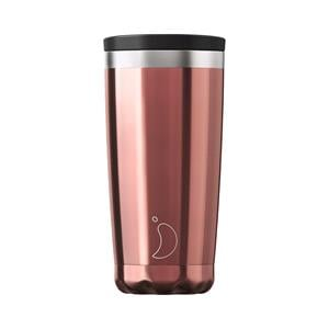 Reusable Mugs, Chilly's 500ml Coffee Cup - Chrome Rose Gold, Chilly's
