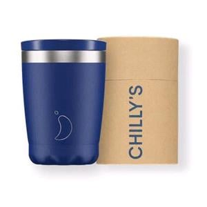 Reusable Mugs, Chilly's 340ml Coffee Cup - Matte Blue, Chilly's