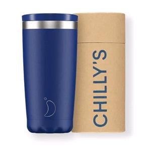 Reusable Mugs, Chilly's 500ml Coffee Cup - Matte Blue, Chilly's