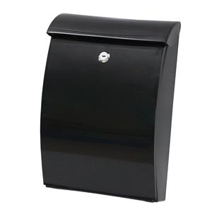 Post Boxes, PostPlus ABS All Weather Wall Mounted Post Box - Black, PostPlus