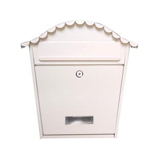 Post Boxes, PostPlus Traditional Wall Mounted Post Box - Cream, PostPlus