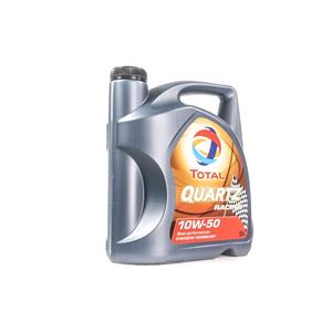 Engine Oils and Lubricants, TOTAL Quartz Racing 10w50 Fully Synthetic Engine Oil - 5 Litre, Total