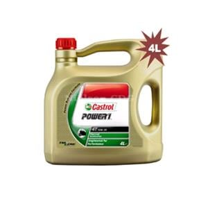 Engine Oils and Lubricants, Castrol Power 1 4T - 4 Stroke - 10W-30 - Semi Synthetic - 4 Litre, Castrol