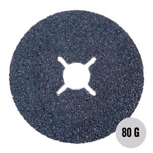 "Sanding, Filing and Finishing, Abracs 4"" Fibre Disc 100mm x 80 grit AL-OX Pack of 25, ABRACS"
