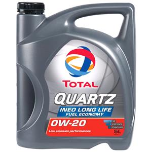 Engine Oils and Lubricants, TOTAL Quartz INEO LONG LIFE 0W-20 Engine Oil - 5 Litre , Total