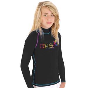 Rash Vests, Osprey Girls Long Sleeve Rash Vest - Black - Size XS, Osprey