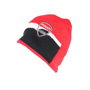 Hats, DuCATI RACING BEANIE RED-BLACK,