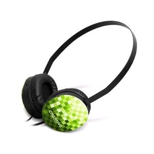 Headphones, Creative Labs Lightweight Sport Headphones - Green, Creative Labs
