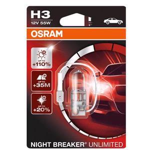 Bulbs - by Bulb Type, Osram Night Breaker Unlimited H3 Bulb  - Single, Osram