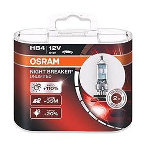 Bulbs - by Bulb Type, Osram Night Breaker unlimited HB4 Bulb  - Twin Pack, Osram