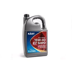 Engine Oils and Lubricants, KAST 15W-40 E7 SHPD Multigrade Engine Oil - 5 Litre, KAST