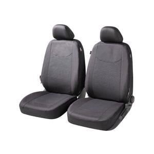 Seat Covers, Walser Speedway Front Car Seat Covers - Black for Peugeot 207 Saloon 2007 Onwards, Walser