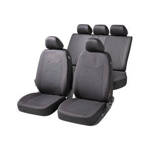 Seat Covers, Walser Speedway Car Seat Cover Set - Black for Peugeot 207 Saloon 2007 Onwards, Walser