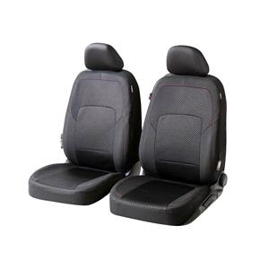 Seat Covers, Walser Logan Front Car Seat Covers - Black for Peugeot 207 Saloon 2007 Onwards, Walser