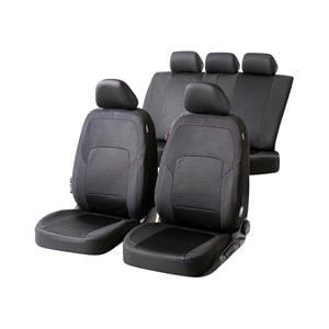 Seat Covers, Walser Logan Car Seat Cover Set - Black for Peugeot 207 Saloon 2007 Onwards, Walser