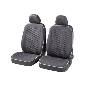 Seat Covers, Walser Kendal Front Car Seat Covers - Black for Peugeot 207 Saloon 2007 Onwards, Walser