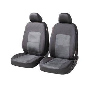 Seat Covers, Walser Ellington Front Car Seat Covers - Black & Anthracite for Peugeot 207 Saloon 2007 Onwards, Walser