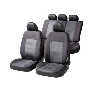 Seat Covers, Walser Ellington Car Seat Cover Set - Black & Anthracite for Peugeot 207 Saloon 2007 Onwards, Walser