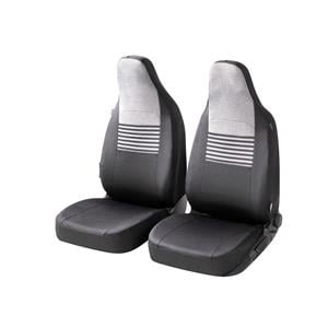 Seat Covers, Walser Gordon Front Car Seat Covers - Black & Grey for Peugeot 207 Saloon 2007 Onwards, Walser