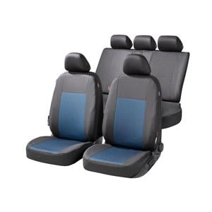 Seat Covers, Walser Ardwell Car Seat Cover Set - Black & Blue for Peugeot 207 Saloon 2007 Onwards, Walser