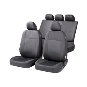 Seat Covers, Walser Ardwell Car Seat Cover Set - Black for Peugeot 207 Saloon 2007 Onwards, Walser