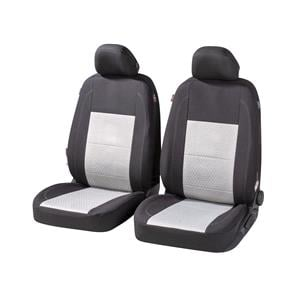 Seat Covers, Walser Avignon Front Car Seat Covers - Black & Grey for Peugeot 207 Saloon 2007 Onwards, Walser